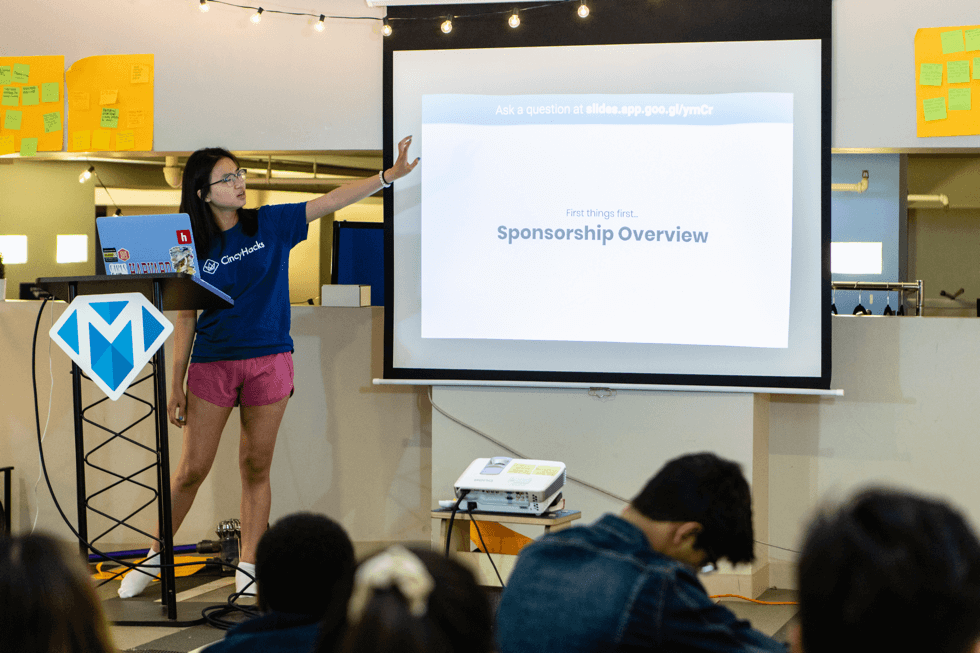 Megan presenting a workshop at Flagship 2019